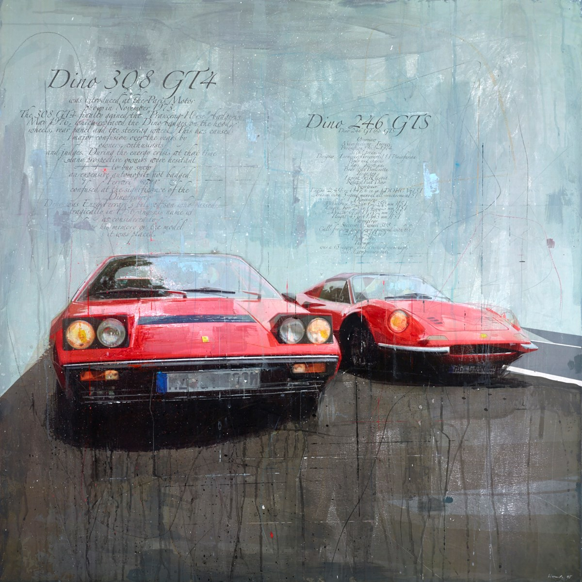 Dino 308 GT4 by markus haub -  sized 39x39 inches. Available from Whitewall Galleries